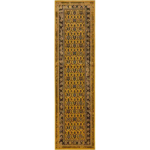 benuta CLASSIC Läufer für Flur Antique Gelb 80x300 cm