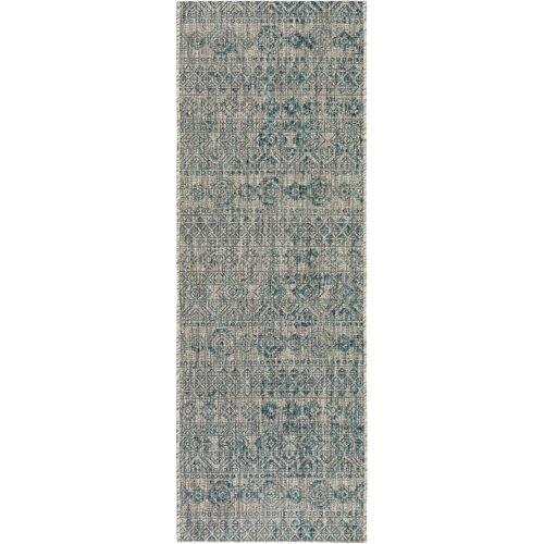 benuta PLUS In- & Outdoor-Läufer Cleo Blau 80x240 cm - für Balkon, Terrasse & Garten