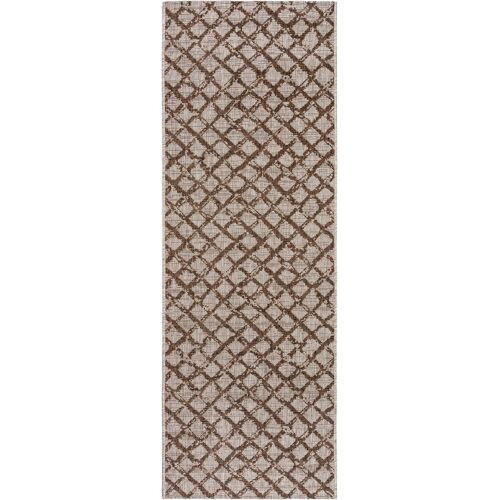 benuta PLUS In- & Outdoor-Läufer Cleo Braun 80x240 cm - für Balkon, Terrasse & Garten