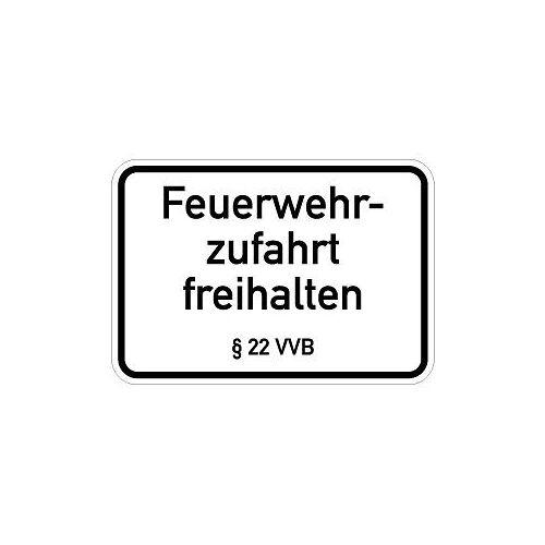 Moedel Feuerwehrzufahrt freihalten § 22 VVB, Alu, 500x350 mm, 57542