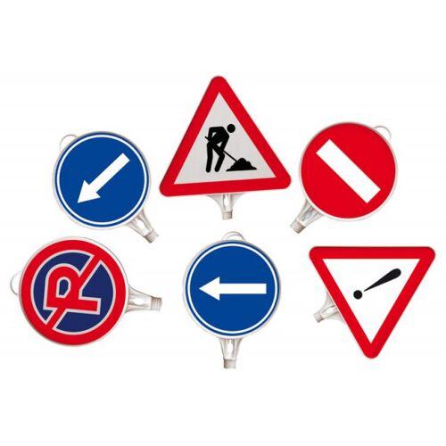 Stein HGS Schilder aus Kunststoff mit Verkehrszeichen, aufschraubbar, Parkverbot, beidseitig, Ø280mm, rund, 10068