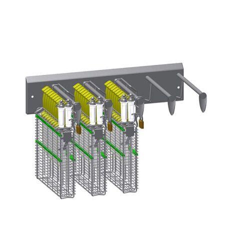 PHT Verschließbare Wandhalterung – 5er Leiste – für Typ 22200, 110220011-05