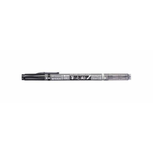Tombow Kalligraphie-Stift Fudenosuke Twin, schwarz/grau, WS-TBS