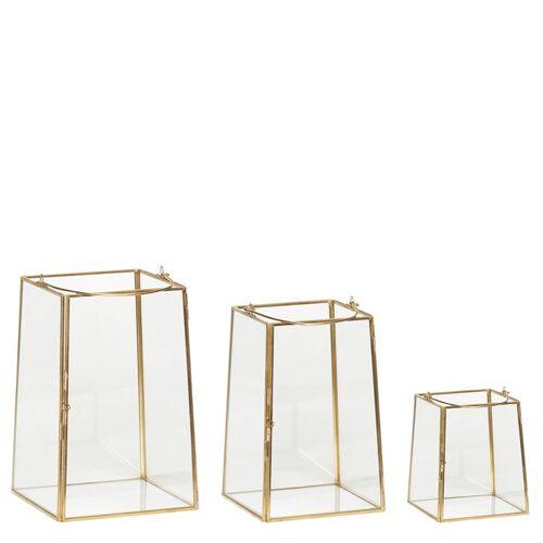Laterne Messing/Glas 3er Set Hübsch Interior