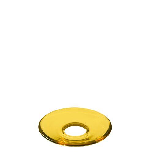 Holmegaard Lumi Glasmanschette Gelb flach  Holmegaard