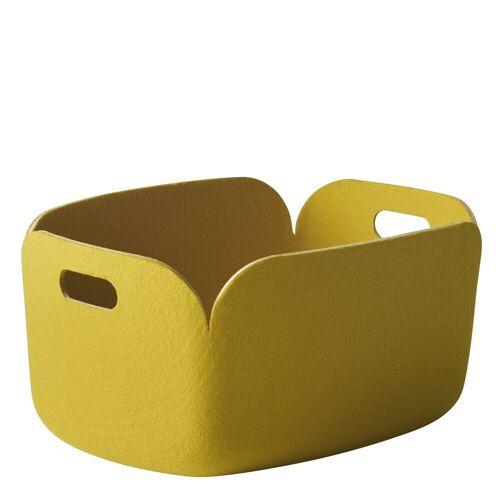 Restore Aufbewahrungskorb Gelb  Muuto