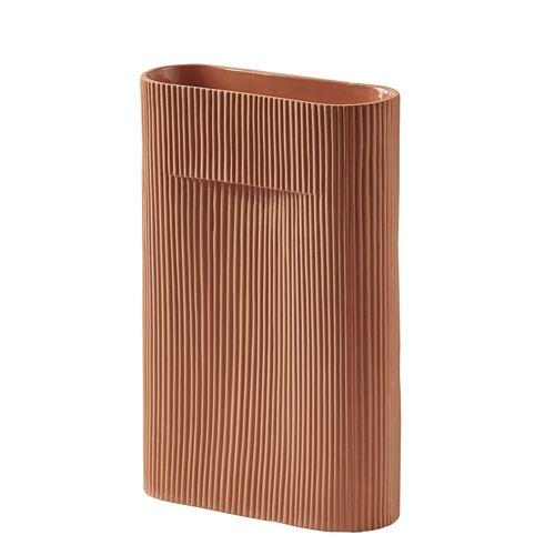 Ridge Vase 35 cm Terrakotta  Muuto