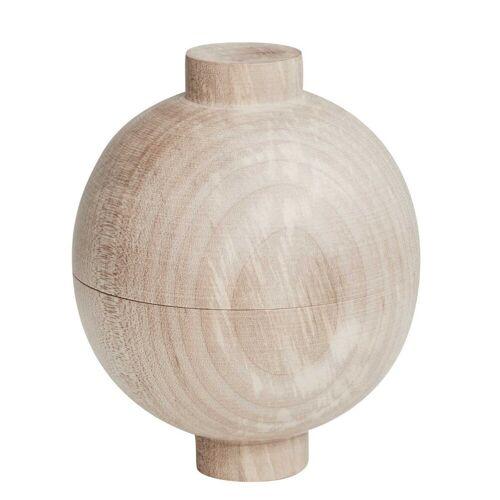 Wooden Sphere Aufbewahrungsdose Natur klein  Kristina Dam