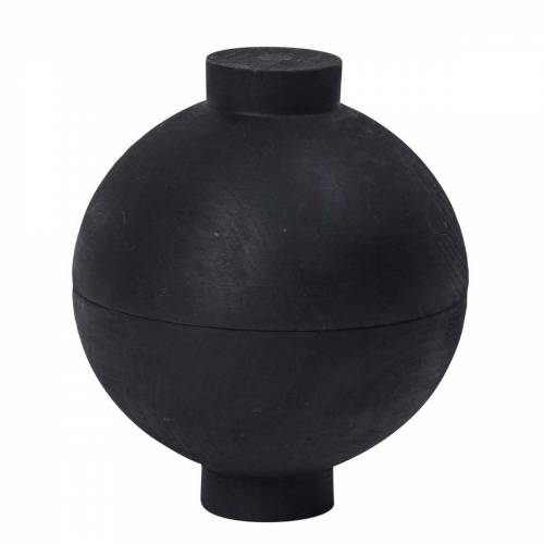 Wooden Sphere Aufbewahrungsdose Schwarz klein  Kristina Dam