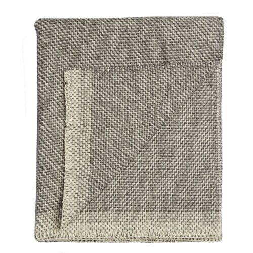 Una Wolldecke Grau Røros Tweed