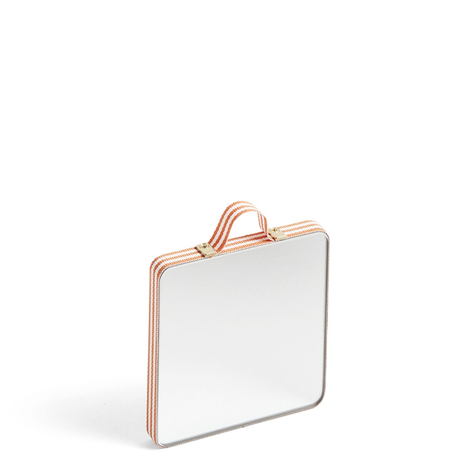 Ruban Spiegel Quadratisch Orange Stripe XS  Hay