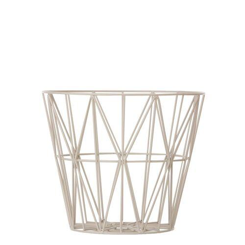 Wire Basket Drahtkorb Grau groß  Ferm Living