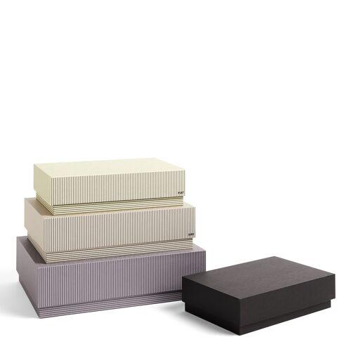Box Box Desktop Aufbewahrungsboxen 4er Set Stripe Grey  Hay