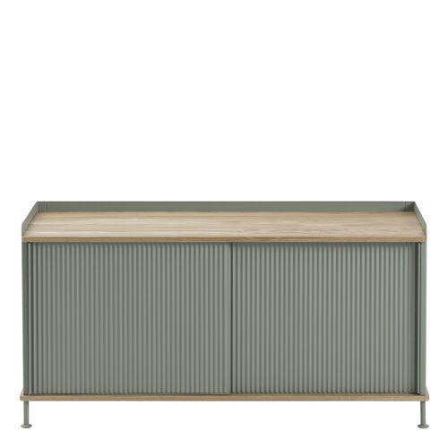 Enfold Sideboard Eiche/Grün 124.5 x 62 cm  Muuto