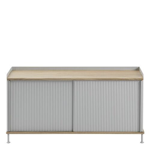Enfold Sideboard Eiche/Grau 124.5 x 62 cm  Muuto