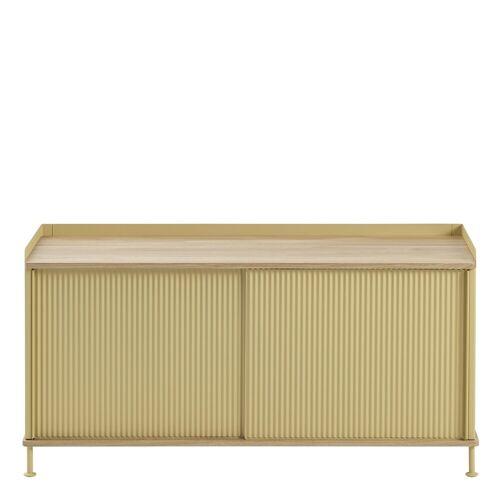Enfold Sideboard Eiche/Gelb 124.5 x 62 cm  Muuto