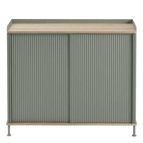 Enfold Sideboard Eiche/Grün 94.5 x 84 cm  Muuto