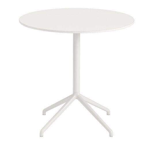 Still Café runder Bistrotisch Weiß 73 cm  Muuto