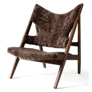 Knitting Lounge Chair Sheepskin Eiche dunkel gebeizt/Drake 20 Menu