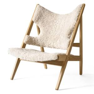 Knitting Lounge Chair Sheepskin Eiche/Moonlight 09 Menu
