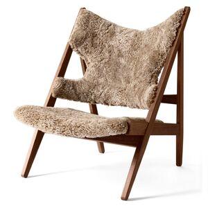 Knitting Lounge Chair Sheepskin Walnuss/Cork 19 Menu