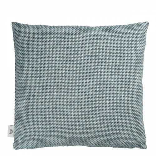Una Kissen Blau Røros Tweed