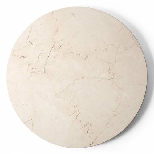Androgyne Tischplatte für Beistelltisch Ivory Marmor Menu