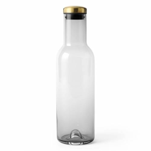 Bottle Karaffe 1 Liter Smoke/Messing  Menu