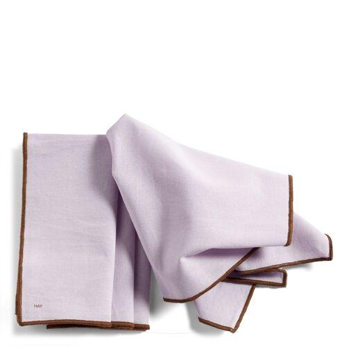 Contour Serviette 4er Set Lavendel  Hay