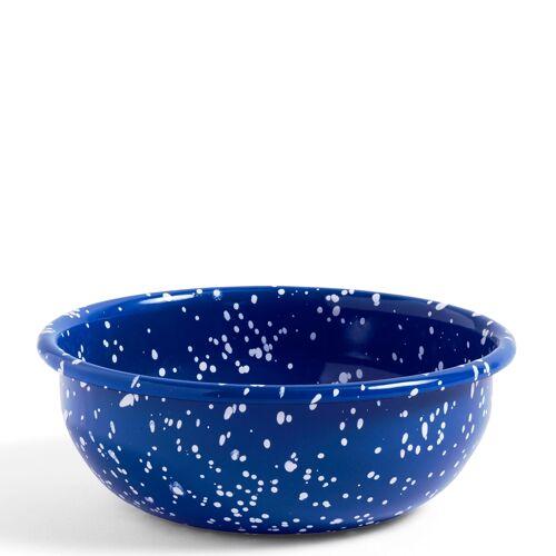 Emaille gesprenkelt Schale M/Blau  Hay