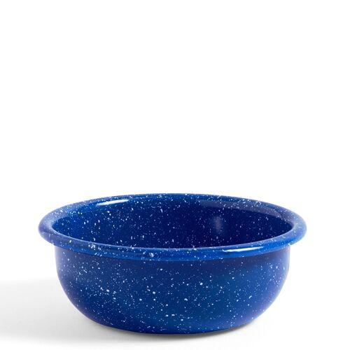 Emaille gesprenkelt Schale S/Blau  Hay