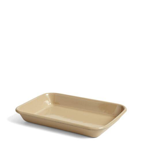 Braun Emaille Tablett-Schale braun  Hay