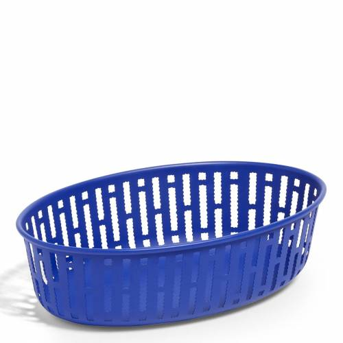 Panier Metallkorb oval Blau  Hay