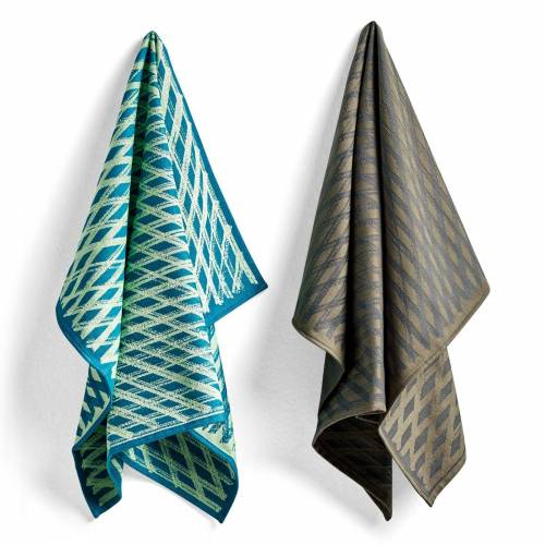 S&B Tea Towels Geschirrtuch 2er Set No 3 Marker Diamond  Hay