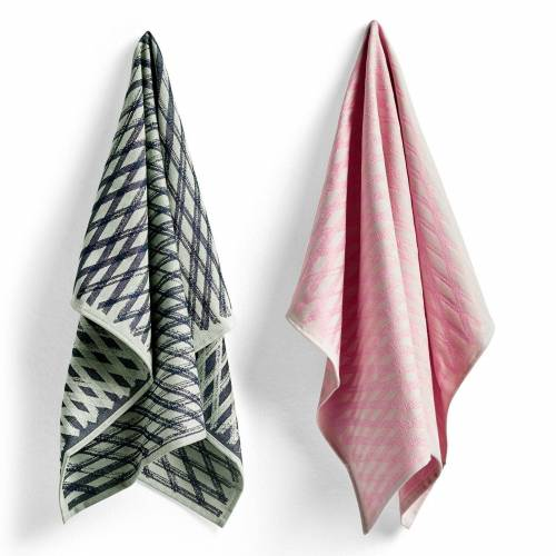 S&B Tea Towels Geschirrtuch 2er Set No 4 Marker Diamond  Hay