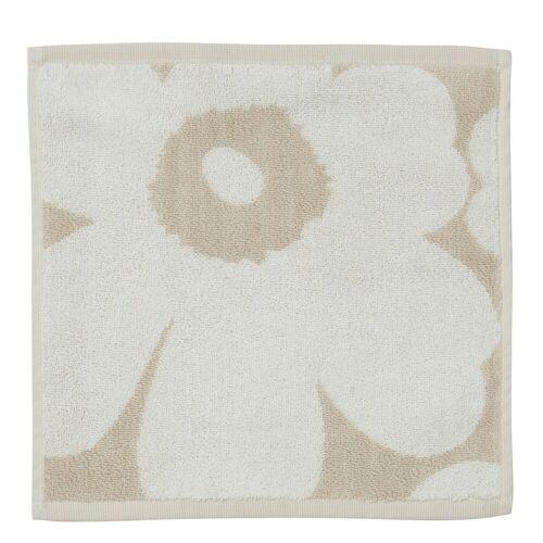 Unikko Handtuch 30 x 30 cm Beige/Weiß  Marimekko