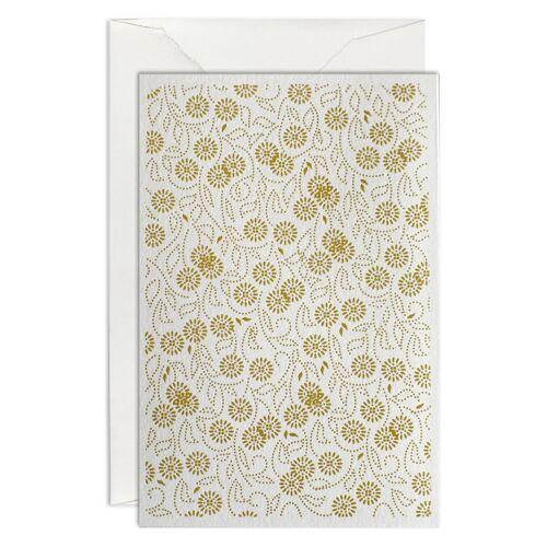 Flora Grußkarte B6 Mustard  Haferkorn & Sauerbrey