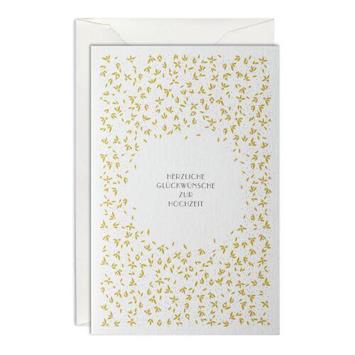 Reis & Blüten Hochzeitskarte B6  Haferkorn & Sauerbrey