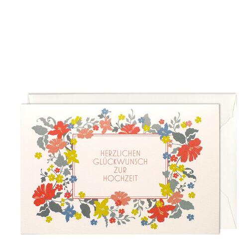 Hochzeits-Blumenetikett Grußkarte B6 Haferkorn & Sauerbrey