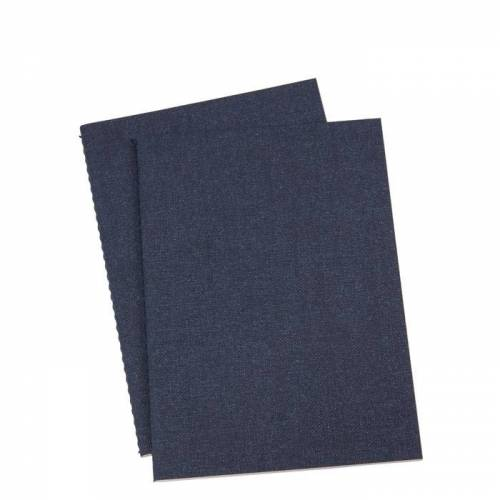 Notizheft A5 2er Set Blau Canvas  Bigso Box of Sweden