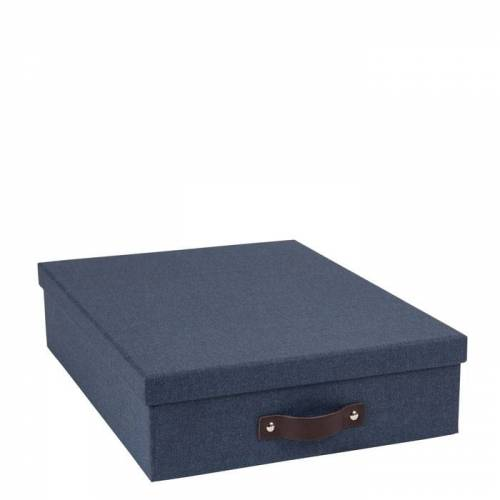 Oskar Aufbewahrungsbox Blau Canvas Bigso Box of Sweden