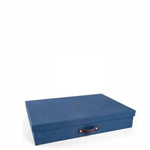 Sverker Aufbewahrungsbox Blau Canvas Bigso Box of Sweden