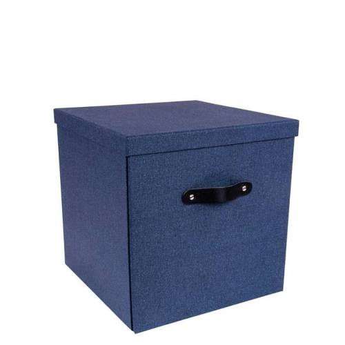 Texas Aufbewahrungsbox Blau Canvas Bigso Box of Sweden