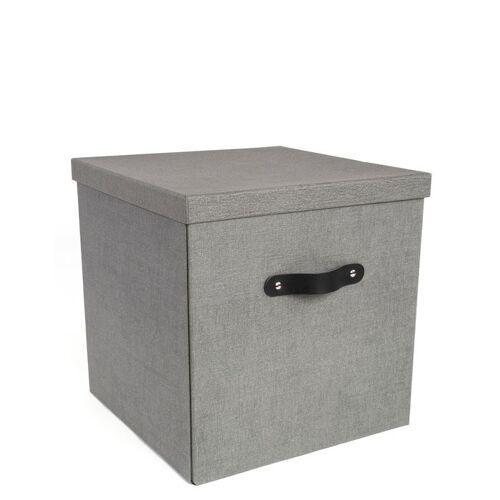 Texas Aufbewahrungsbox Grau Canvas  Bigso Box of Sweden