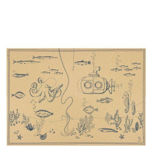 Geschenkpapier Unterwasserwelt  Bow & Hummingbird