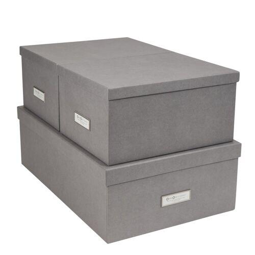 Inge Aufbewahrungsboxen 3er Set Grau  Bigso Box of Sweden
