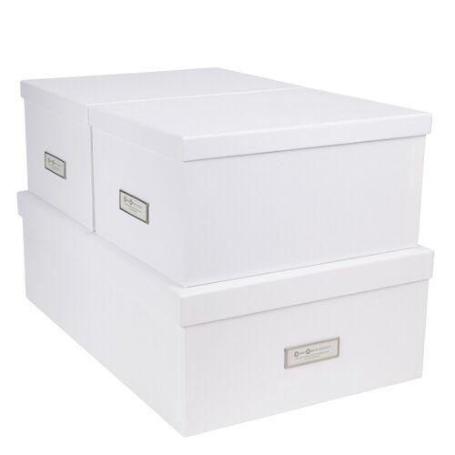 Inge Aufbewahrungsboxen 3er Set Weiß Bigso Box of Sweden
