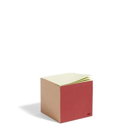 Cube Paper Cube Notizzettel Rusty Red Hay
