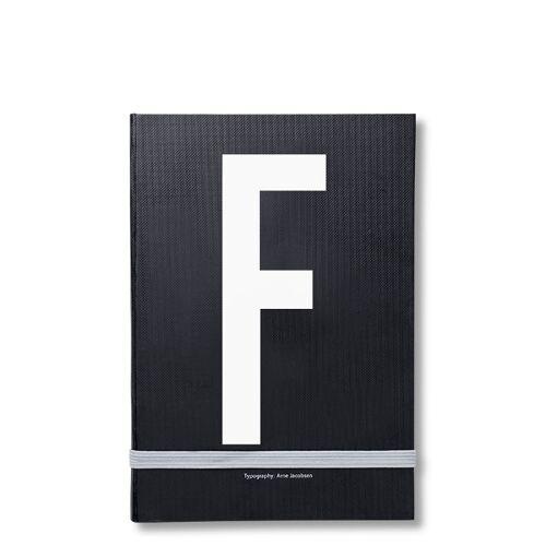 Personal Notizbuch F  Design Letters