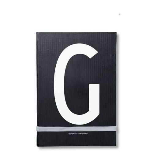 Personal Notizbuch G  Design Letters